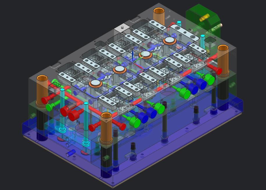 一出四八面行位热流简历道塑料模具评价-hj汽车室内设计专业模具自我设计图片
