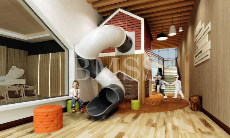 学校建筑设计 方案规划 幼儿园整体3d效果图设计