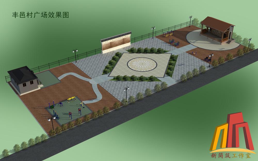 美丽乡村文化广场设计/新农村休闲广场设计/休闲文化广场设计图