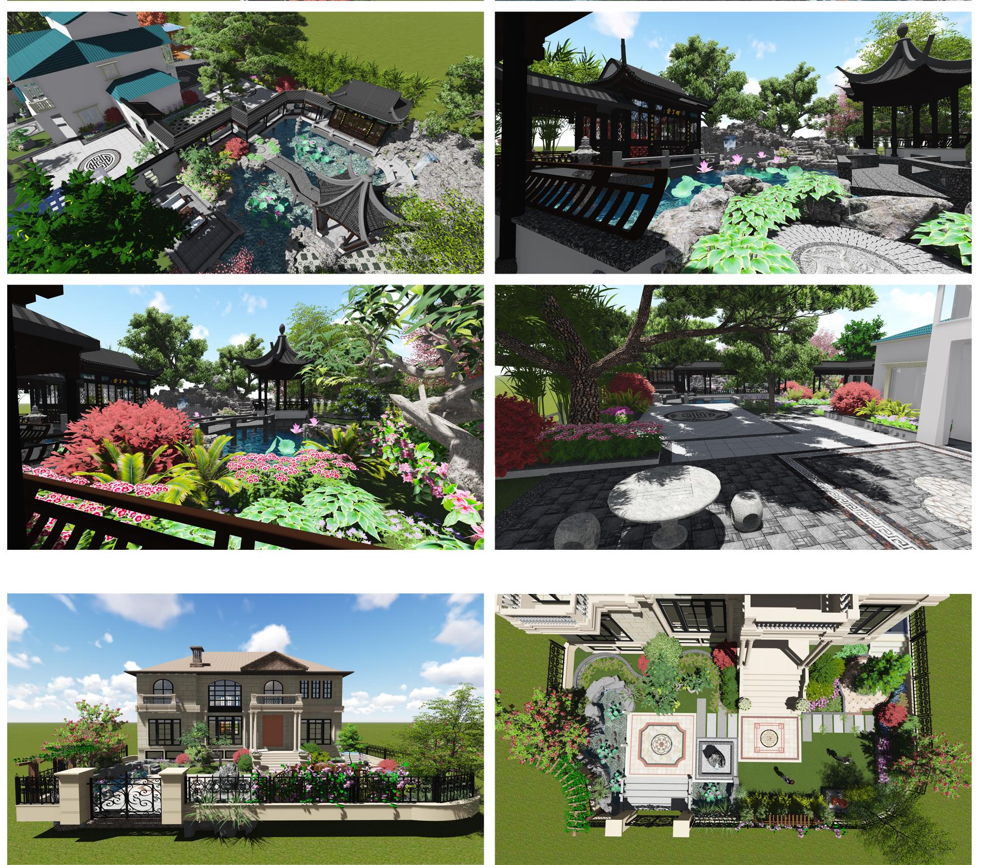 庭院_庭院设计 别墅庭院 屋顶花园 私家花园 景观设计5