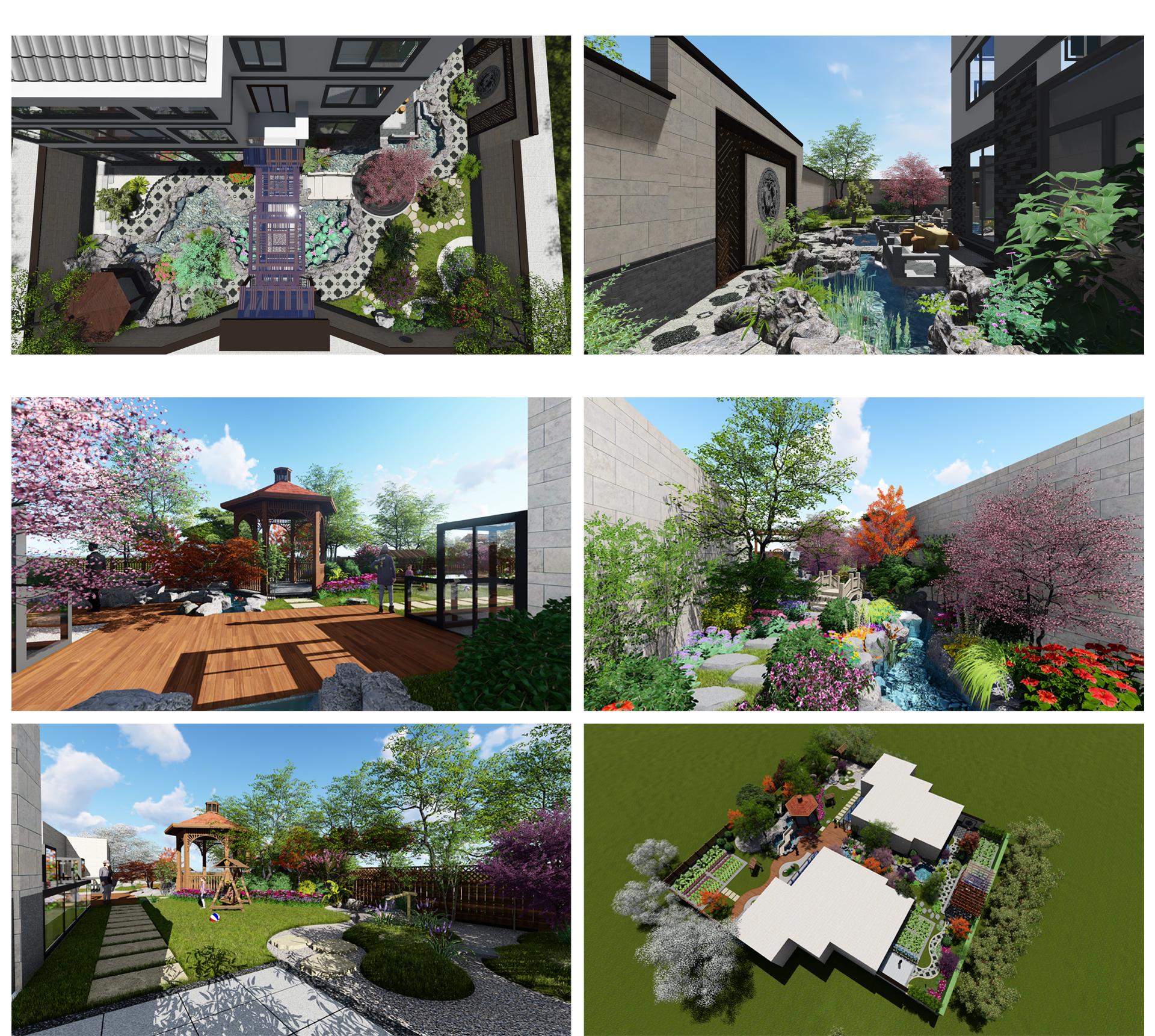 庭院_庭院设计 别墅庭院 屋顶花园 私家花园 景观设计6
