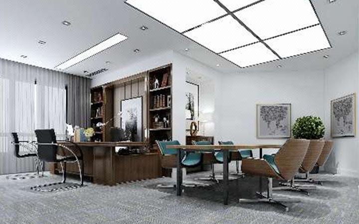 新万嘉办公室设计施工设计总监设计服务大厅办公楼银行保险图片