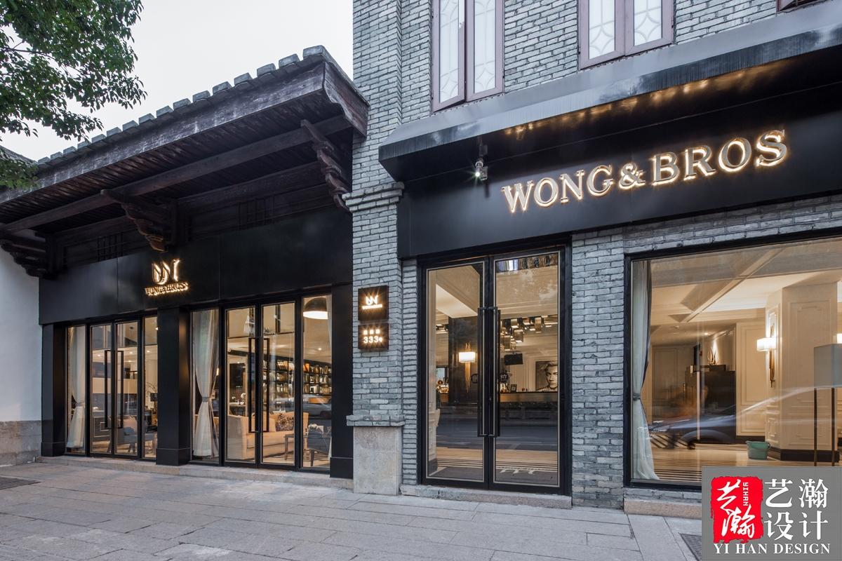 咖啡厅效果图设计/餐饮店铺门头装修设计 甜品店/面包