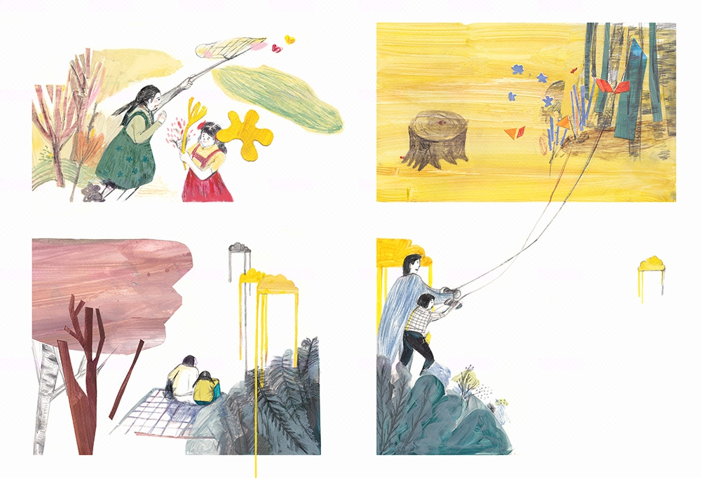 端儿端书籍插画 儿童绘本设计封面手绘