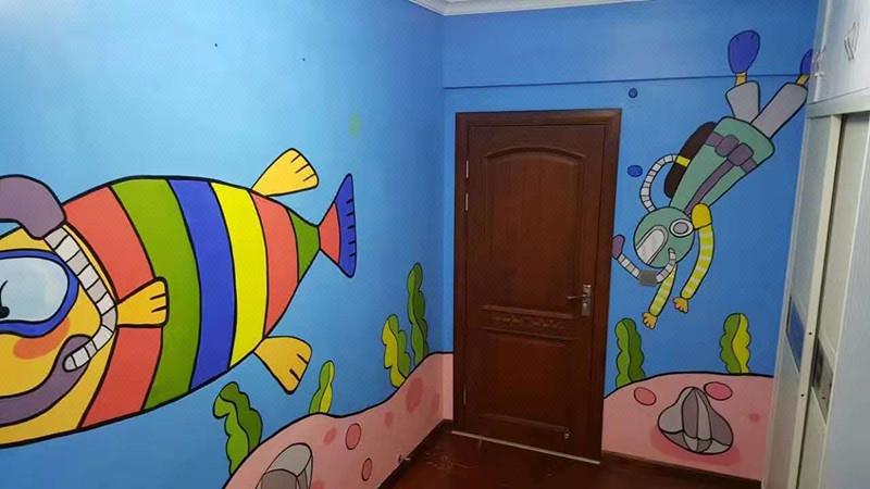 专业墙体彩绘壁画3d油画,儿童房绘画,手绘,水彩画