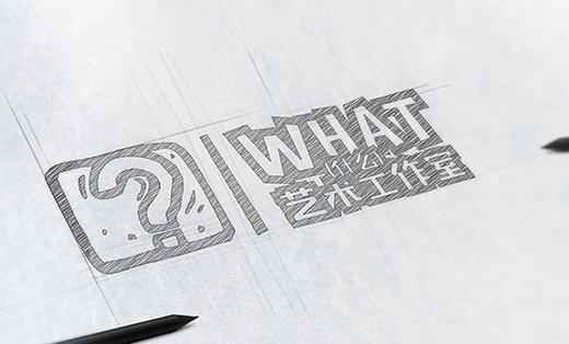 教育行业LOGO-WHAT艺术工作室