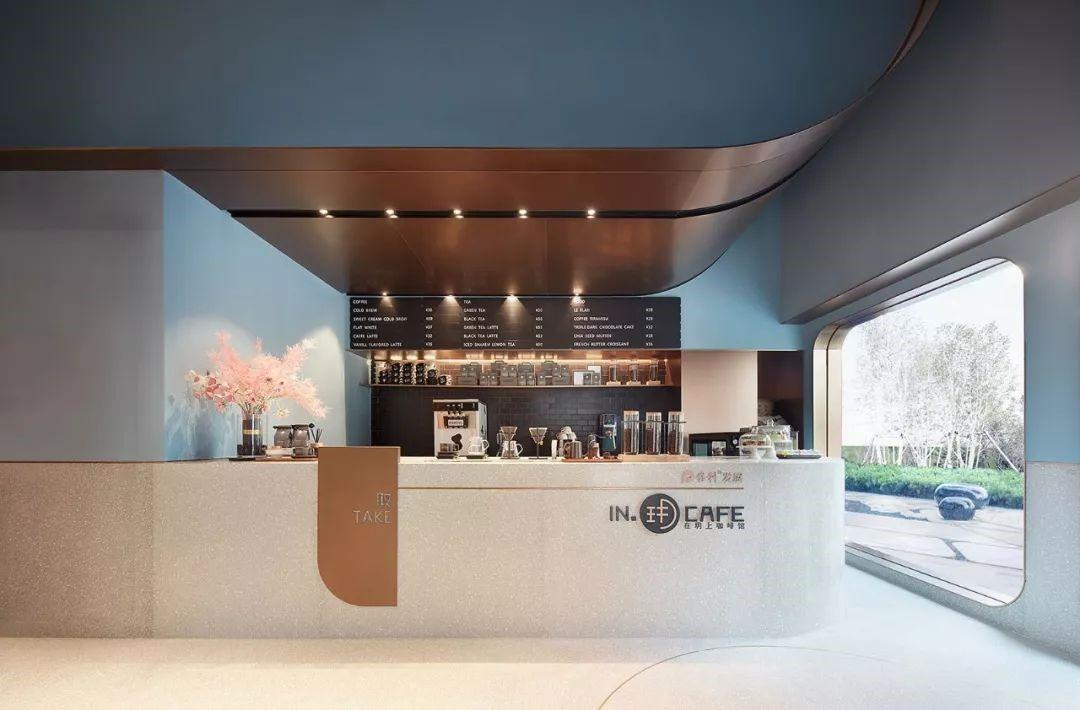 网红店面效果图设计咖啡店铺门头装修设计烘焙店设计奶茶店设计甜