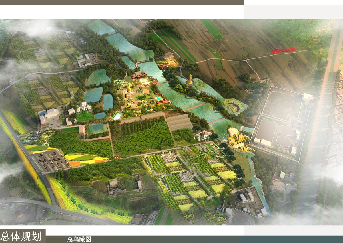 润泉谷景观设计鸟瞰总图