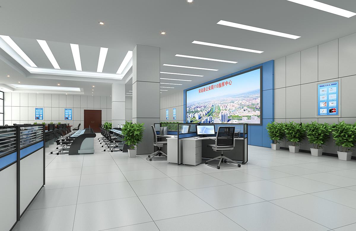 机房服务器效果图指挥大厅效果图监控室中轴侧效果图3d设计制作