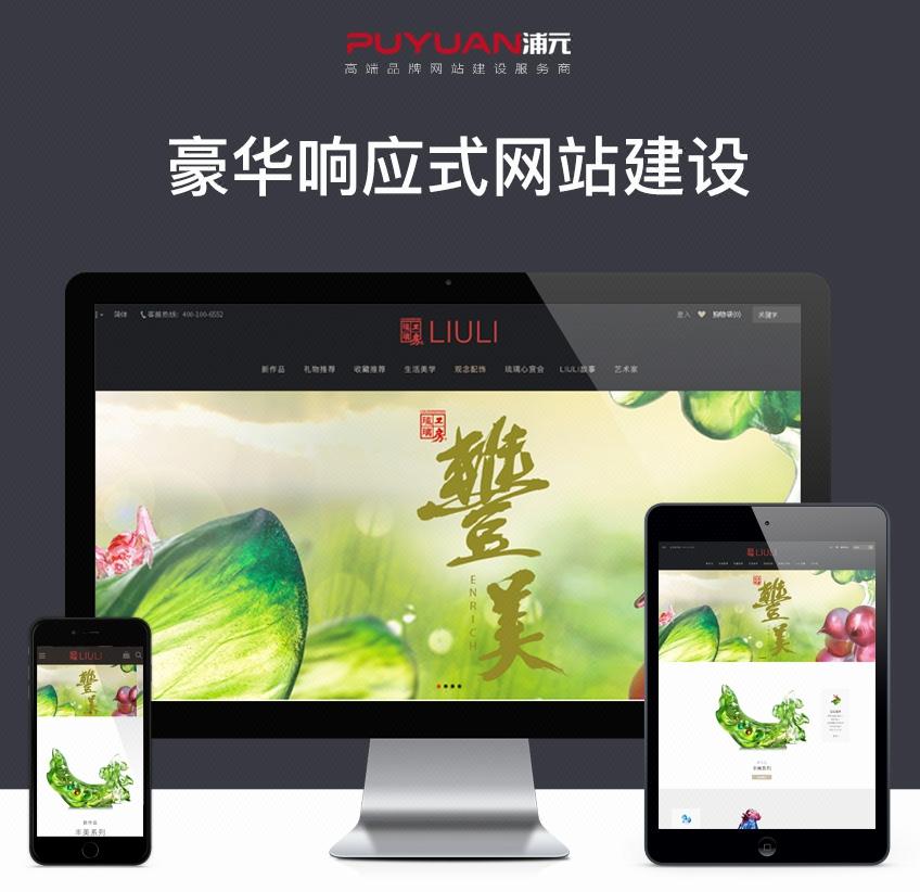 网站定制开发_浦元豪华HTML5响应式企业网站建设 网站制作 定制网站开发1