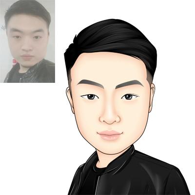 画像_【半写实头像】Q版手绘真人照片 微信卡通形象设计 漫画 画像5