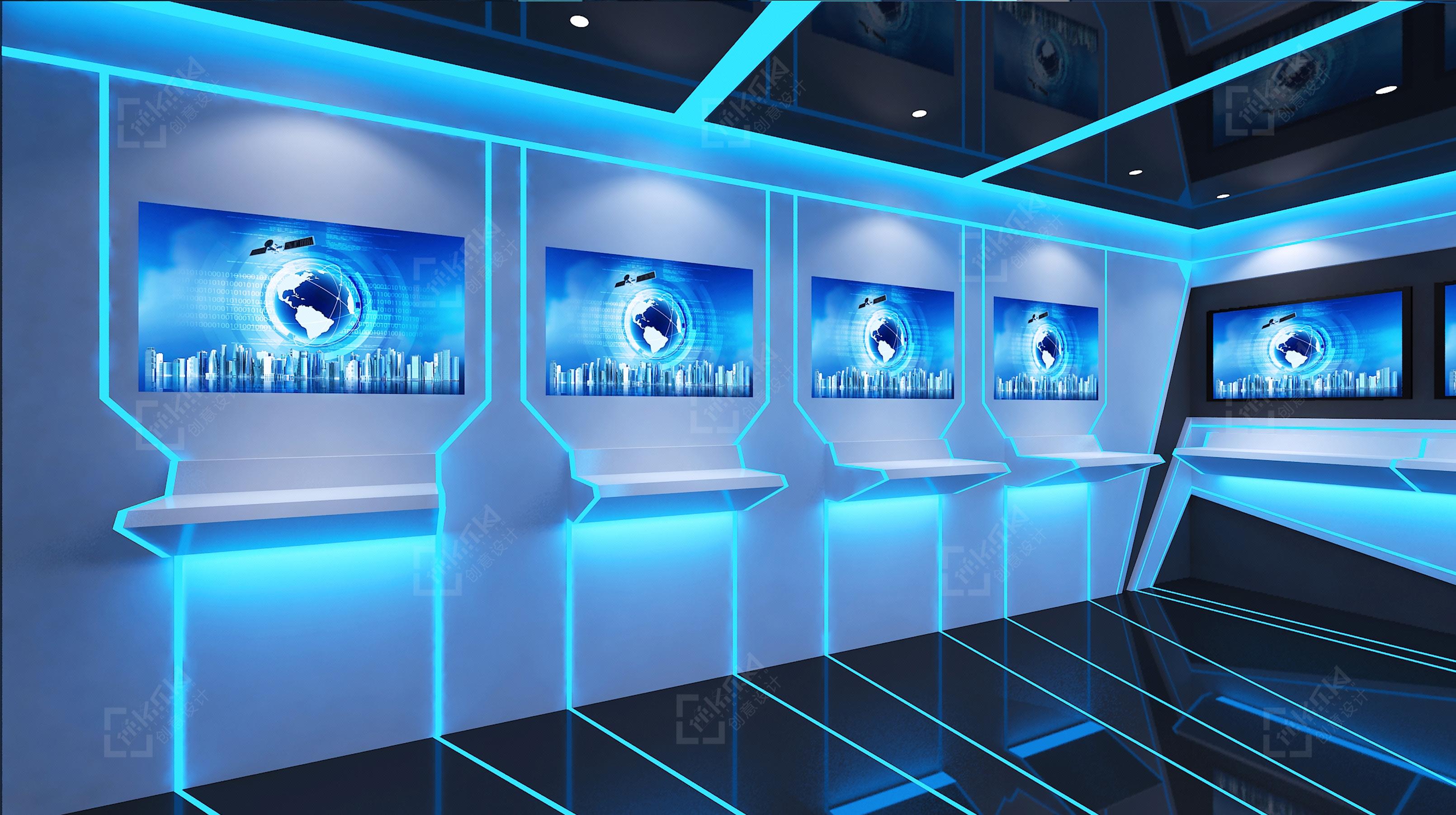 数字化展厅设计,vr虚拟现实展厅,科技展厅,环保宣教中心