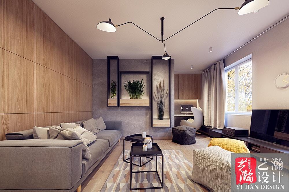 家装装修设计 室内设计 北欧风格 客厅设计 现代风格设计