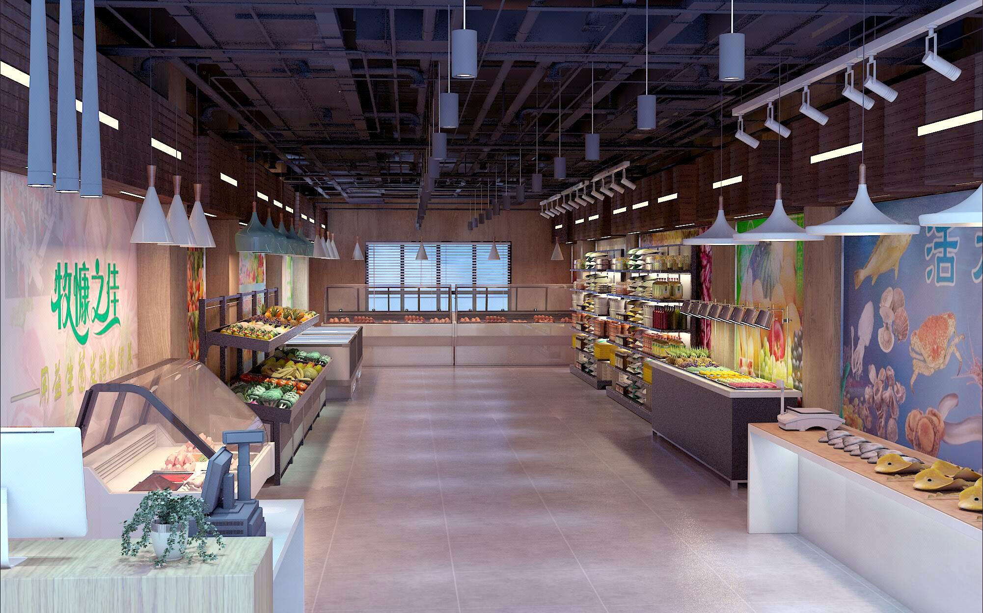 店铺店面设计商铺门头装修设计西餐厅咖啡厅西饼特产芸树空间设计
