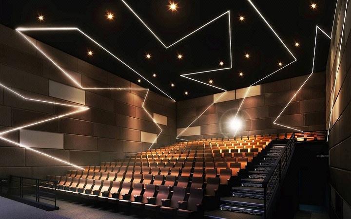影院_vr 电影院室内 影院售票厅 影院放影厅 书吧水吧