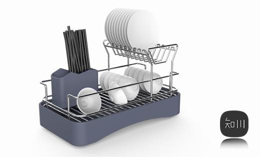 碗碟架外观设计工业设计产品设计置物架收纳架收纳罐盒锅厨卫设计