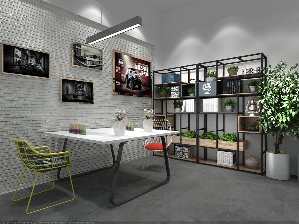 小型办公室装修设计 办公室室内设计 现代风格办公室-