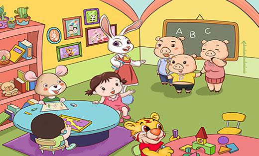 幼儿绘本教材插画