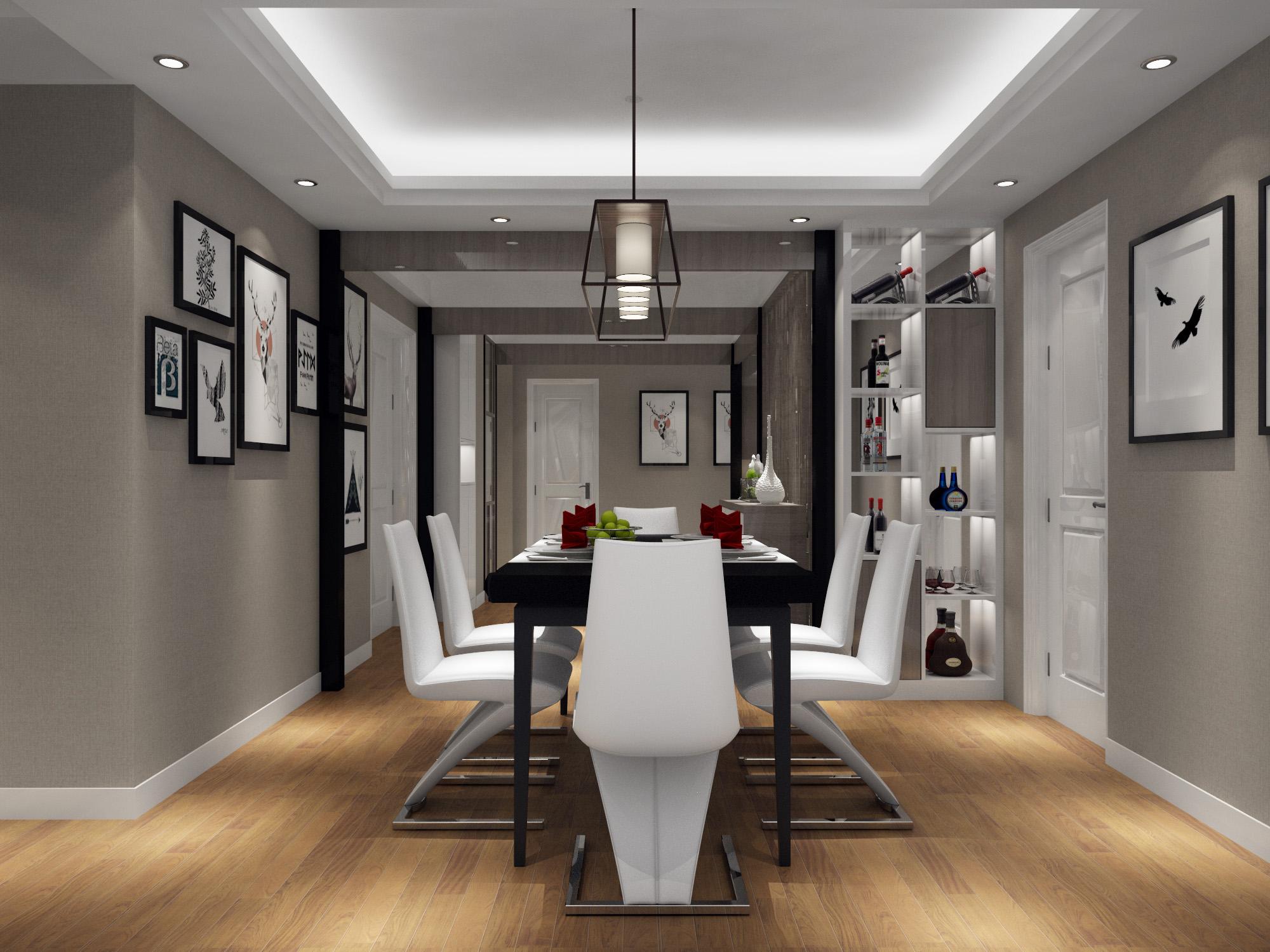 黑白灰家装设计室内装修设计室内设计室内装修新房装修效果图
