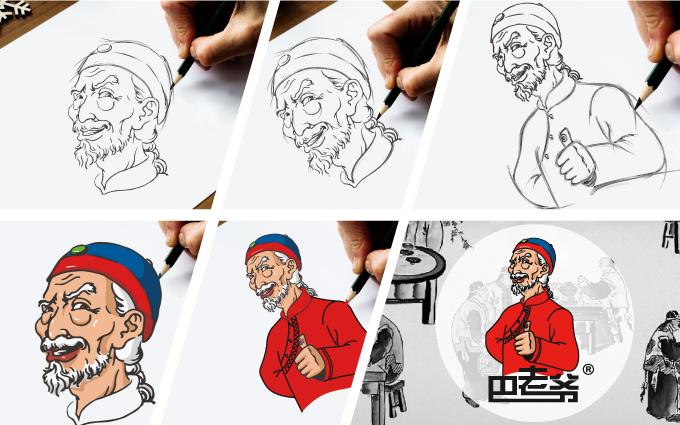 卡通手绘logo 卡通人物 卡通头像人像 人像标志卡通吉祥物