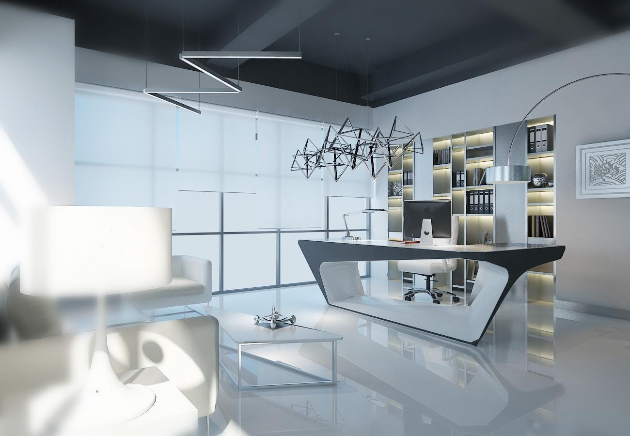 办公室设计写字楼会议室总经理室装修设计效果图公装芸树空间设计