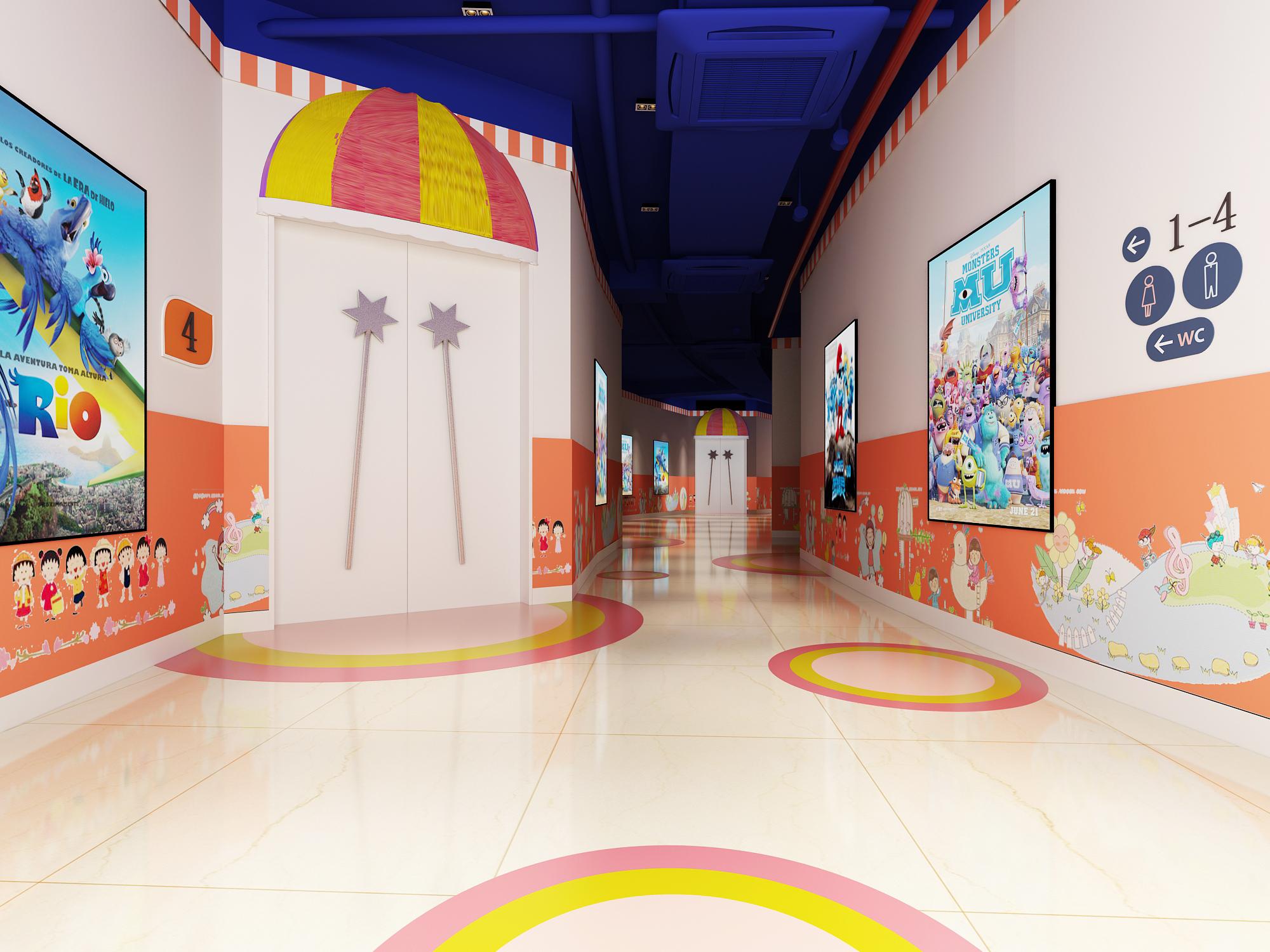 儿童空间教育空间大厅教室图书馆室培训中心校园文化幼儿园设计