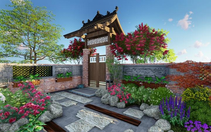 庭院设计 别墅庭院 屋顶花园 私家花园 景观设计