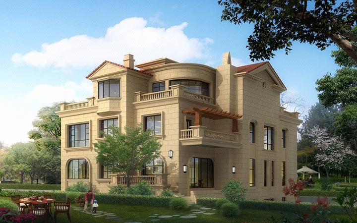 自建房设计别墅设计中式欧式现代别墅四合院别墅设计民宿设计效果