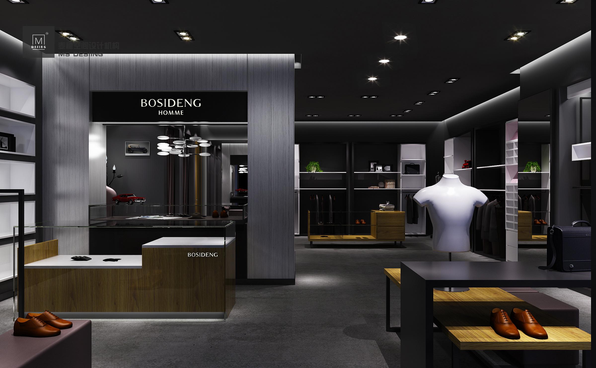 【麦穗】服装店装修设计专卖的设计男装女装效果图设计