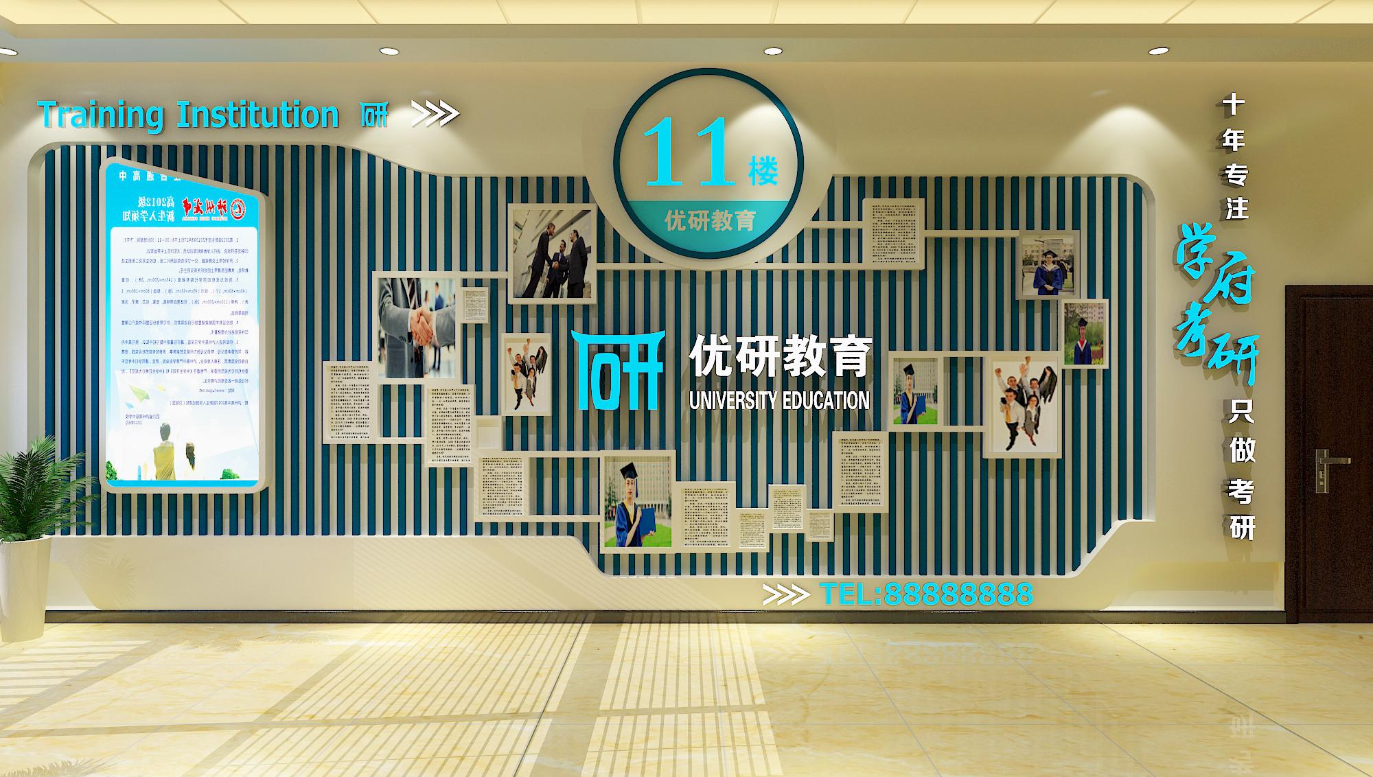 博新設計,形象墻設計,前臺背景墻設計,文化墻,電梯間效果圖