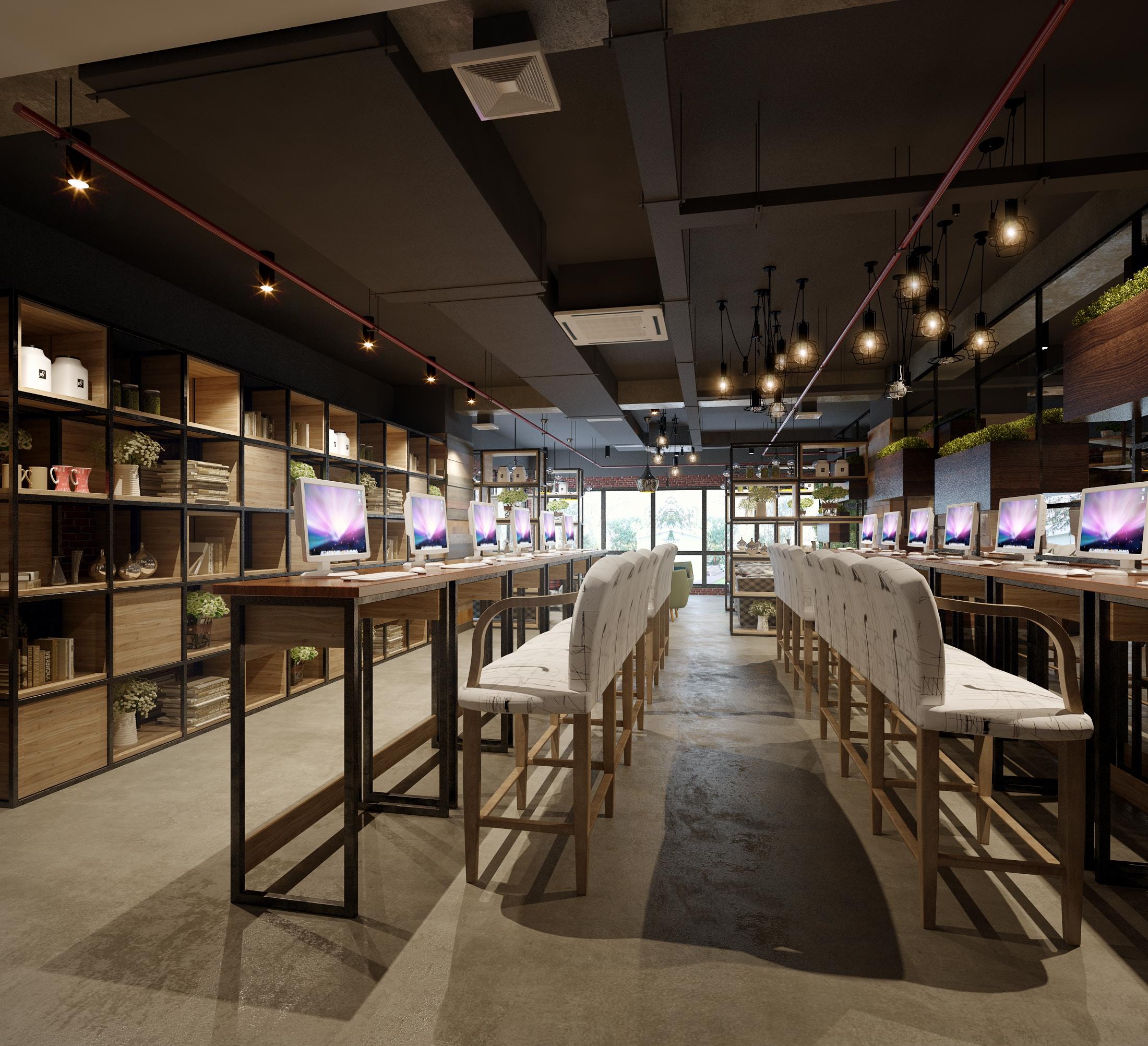 网咖装修设计 超市 展厅 商场 效果图 装修设计 店面