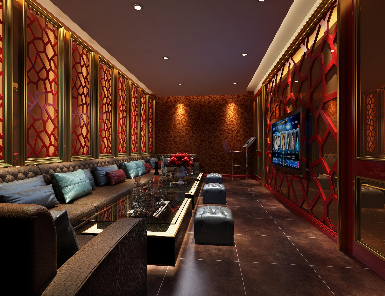 ktv设计酒吧装修设计效果图夜总会装修施工图舞厅室内