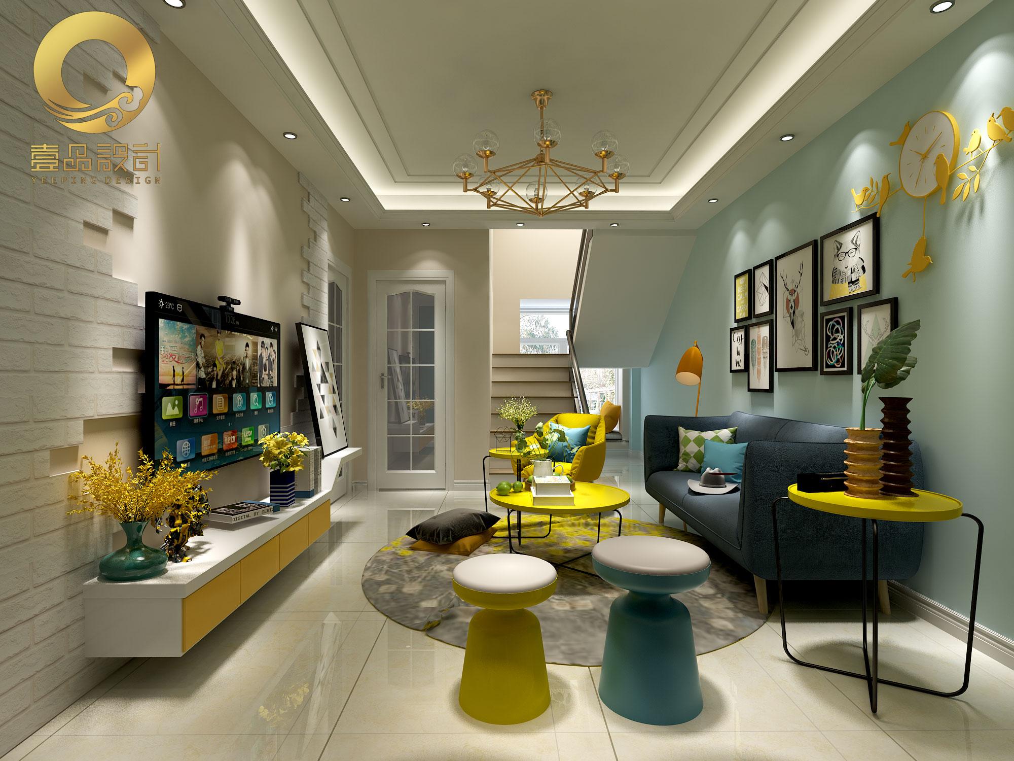 北欧风格设计室内装修设计室内设计效果图设计