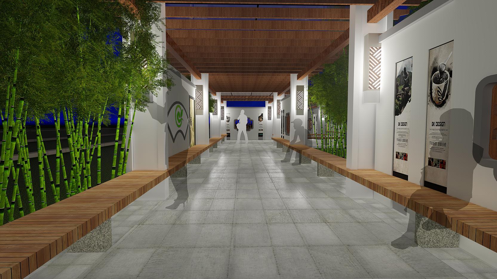 新农村小公园校园公园景观设方案计效果图