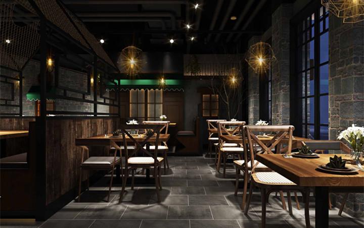 串吧烧烤火锅店面馆汉堡快餐厅店铺档口门面门头效果图施工图设计图片