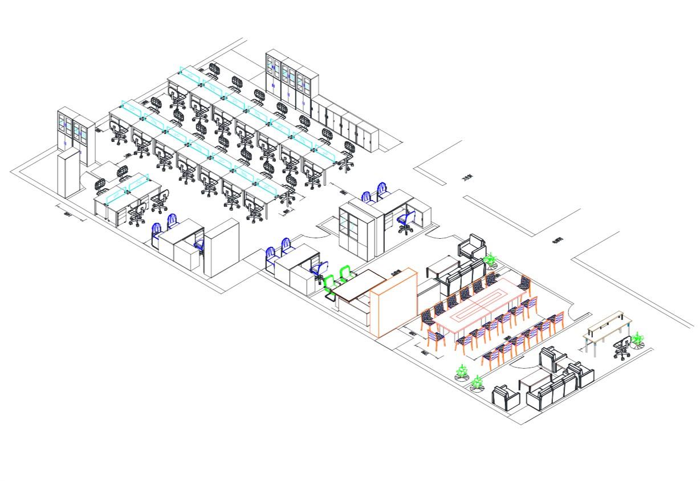 素材CAD制图平面图三维透视图制作及家具产如何填充cad家具载入图片