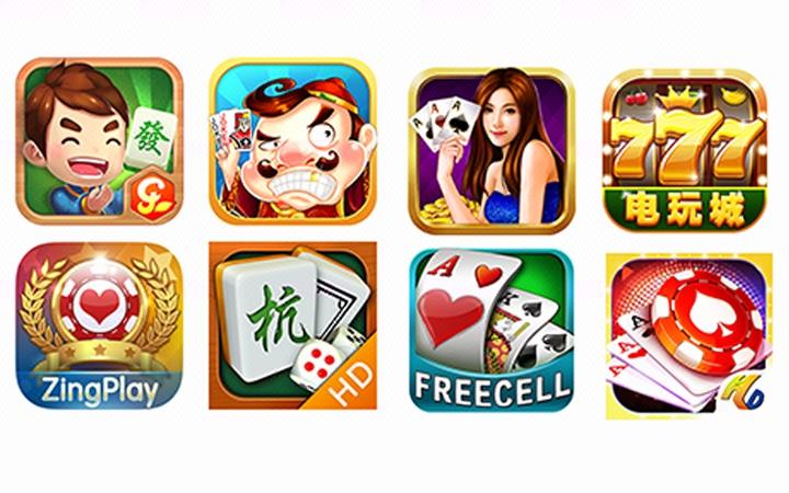 游戏icon图标 棋牌lgoo app图标制作
