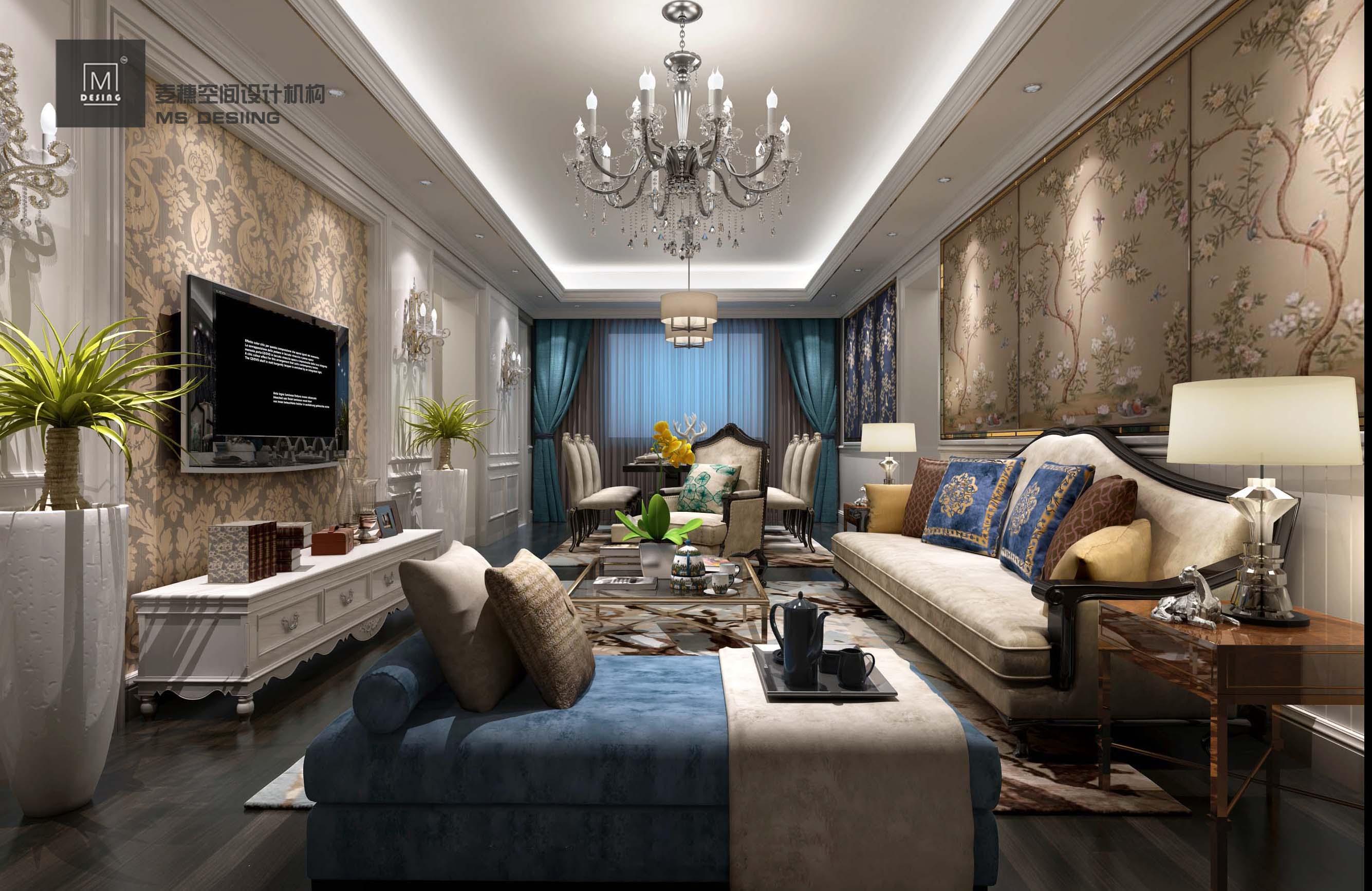 【麦穗】简欧欧式室内设计家装设计效果图设计别墅自建房新房设计