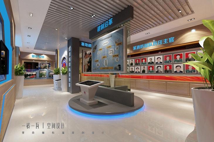 历史展厅 行政展厅 军警文化展厅 装修设计效果图