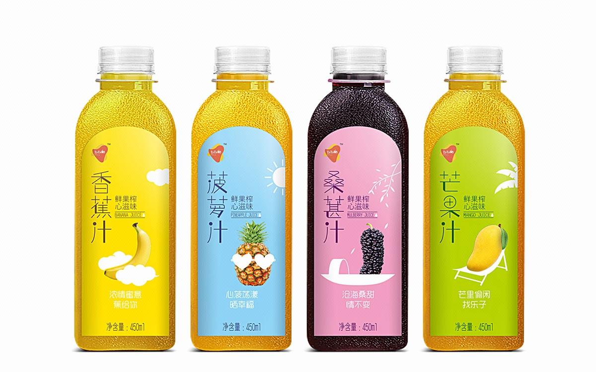 【团队协作】总监参与/饮料包装设计/果汁包装/矿泉水瓶贴设计