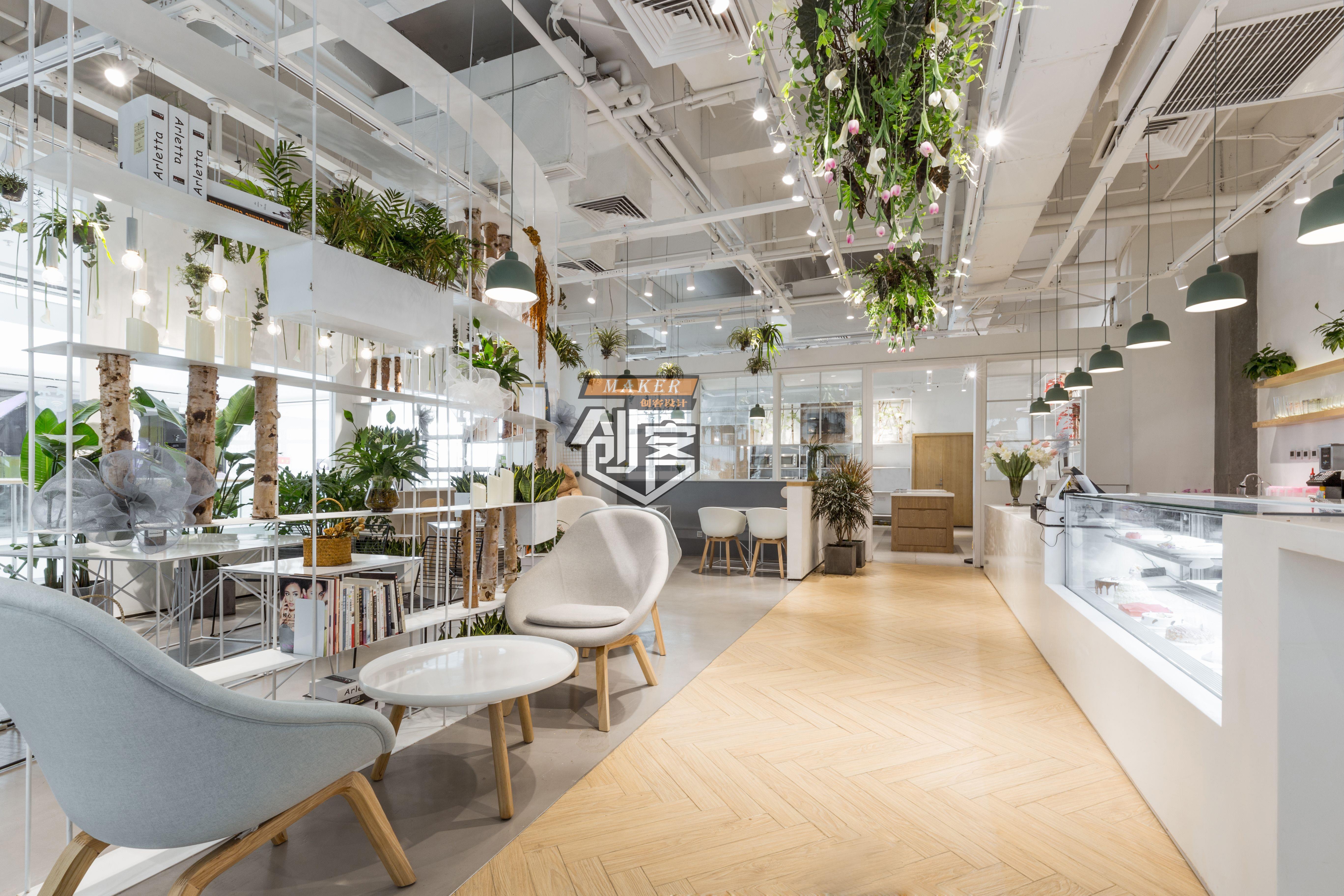 店铺设计装修设计室内设计展厅效果图设计展厅餐饮店面门面设计