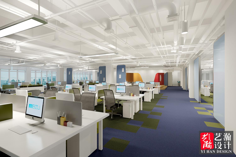 办公室效果图装修设计 办公大厅设计 老总办公室设计会议室设计