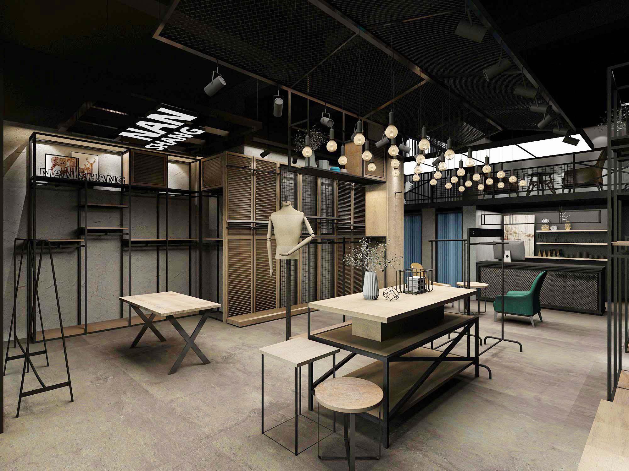服装店铺设计,鞋包店铺设计,展厅设计,室内设计,效果图设计