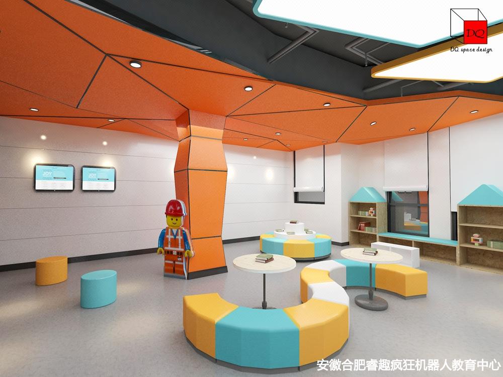 教育培训机构设计学校设计 早教中心艺术培训教室装修设计 大千-【大千空间设计】-猪八戒网