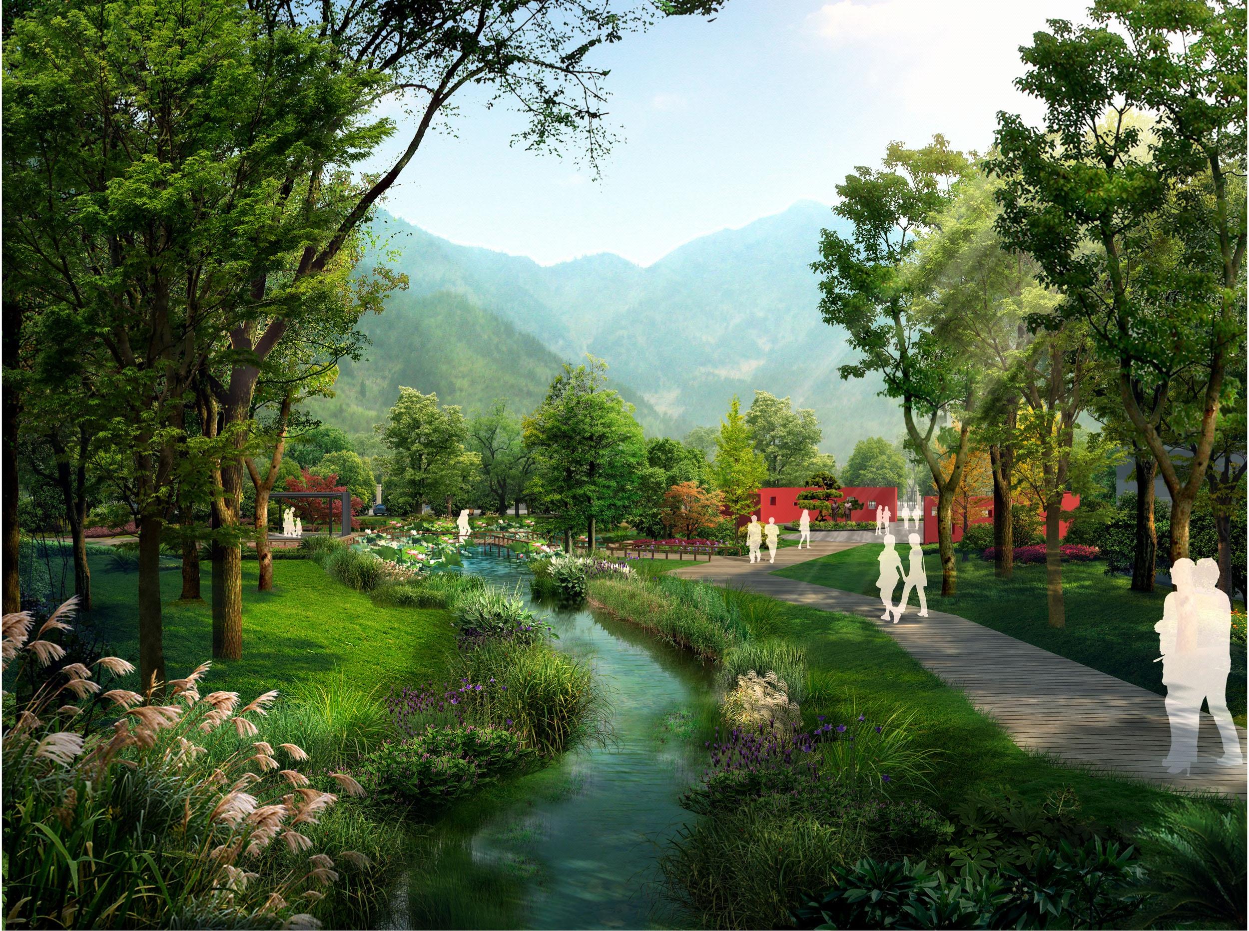 景观效果图,旅游景区规划,规划设计,园林景观,农业园乡村规划