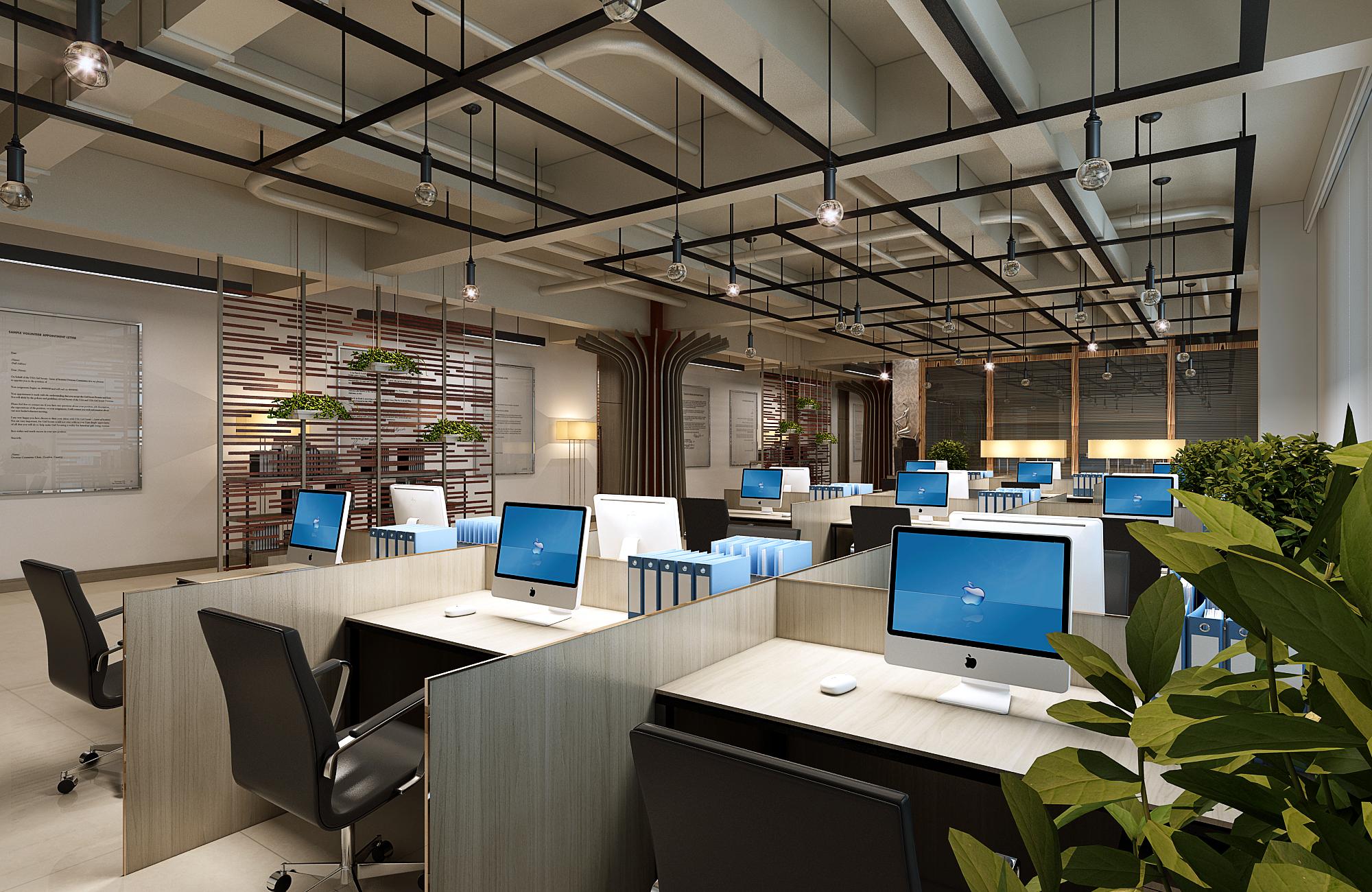 办公室设计,经理办公室,会议室,接待前台,现代简约,效果图.