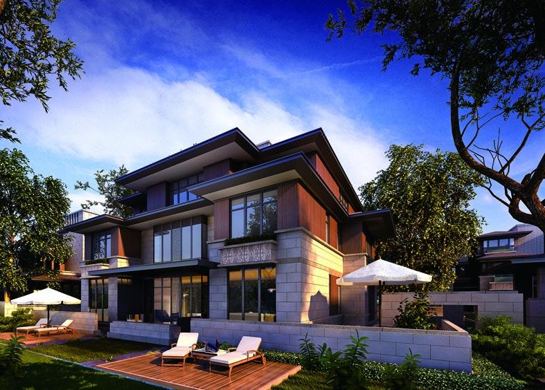 自建房设计别墅设计中式欧式现代别墅四合院设计民宿客栈效果图