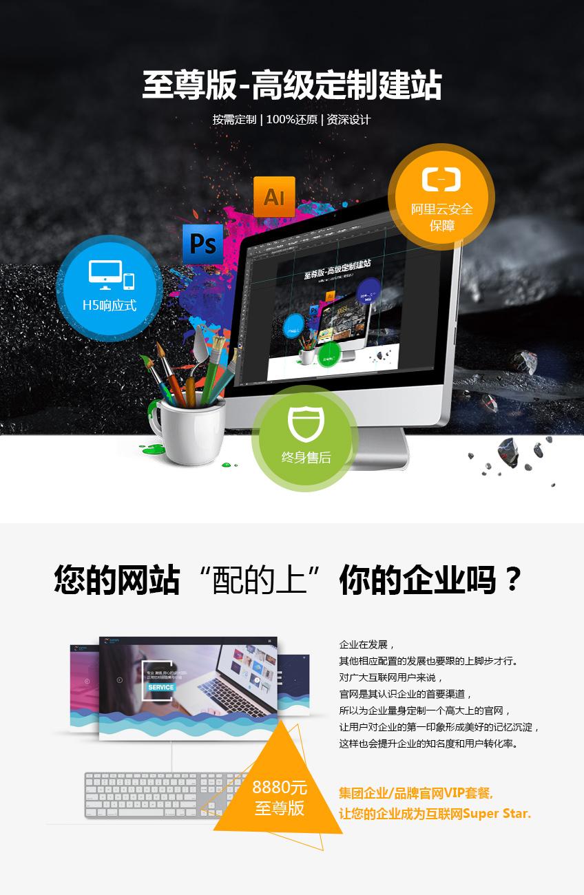 企业网站_集团企业定制 品牌网站高级定制 网站定制设计 网站三合一1