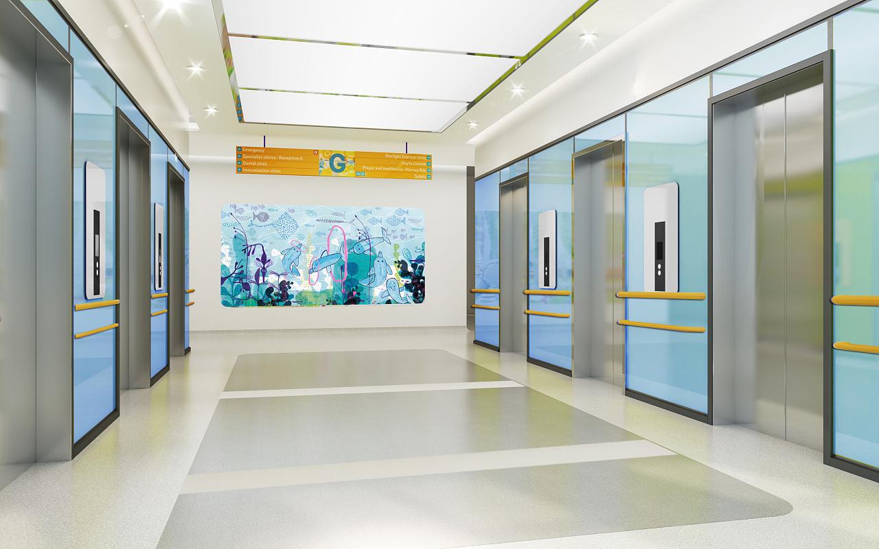 诊所医院设计 口腔医院设计牙科医院设计眼科医院设计效果图