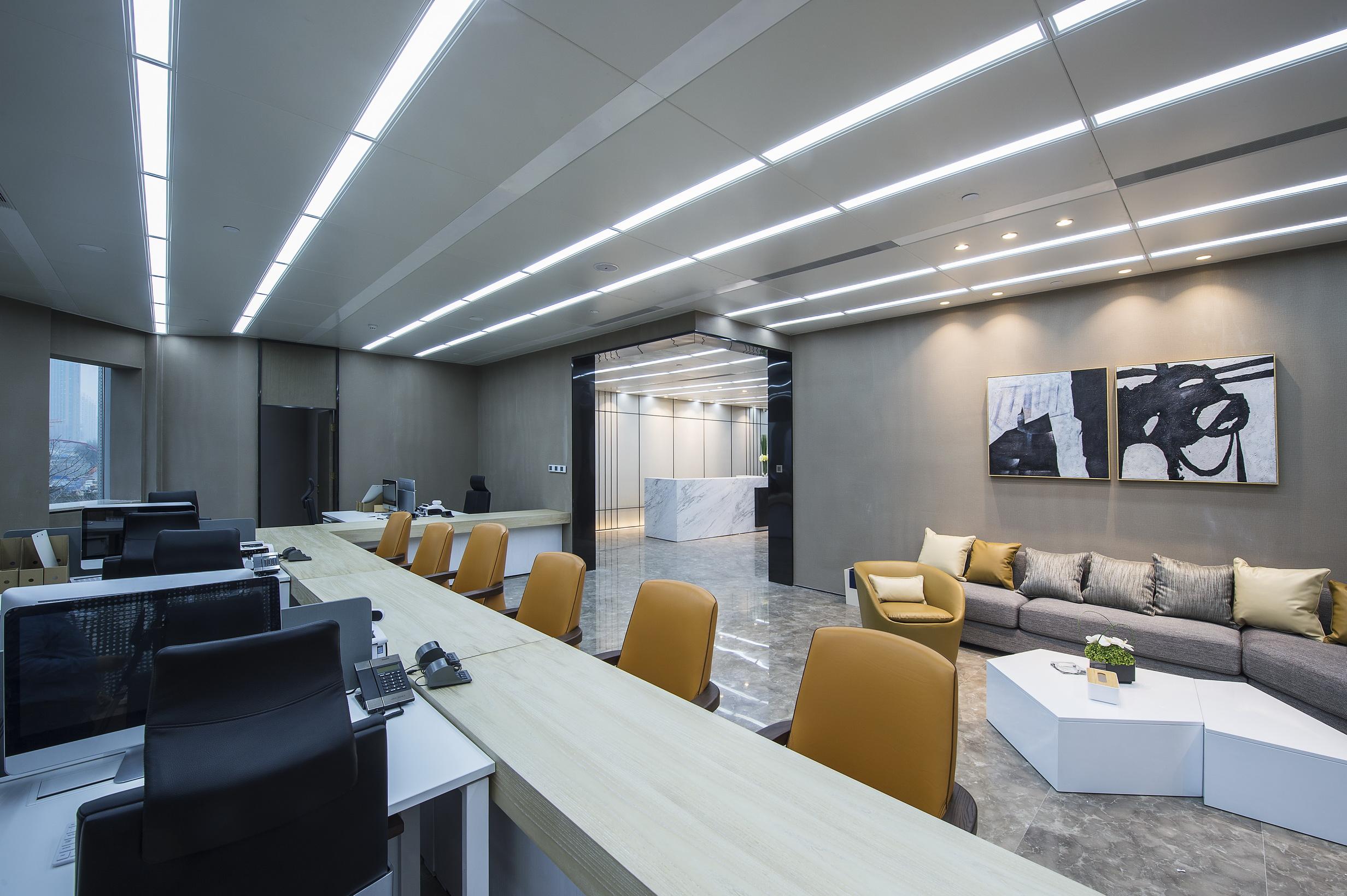 办公室装修设计效果图室内设计施工图经理室工装办公空间设计服务